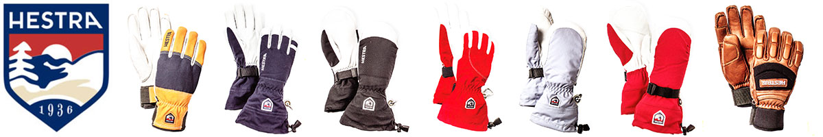 Most models of Hestra ski gloves sold at Swiss Sports Haus 604-922-9107.