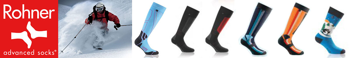 Rohner ski socks available at Swiss Sports Haus 604-922-9107.