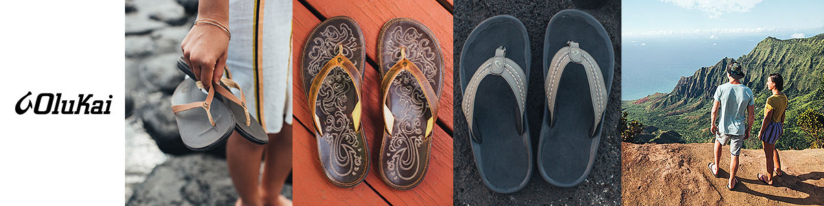 Olukai sandals & shoes available at Swiss Sports Haus 604-922-9107.