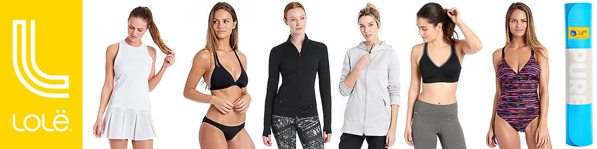 Lole Swim & Active Wear available at Swiss Sports Haus 604-922-9107.