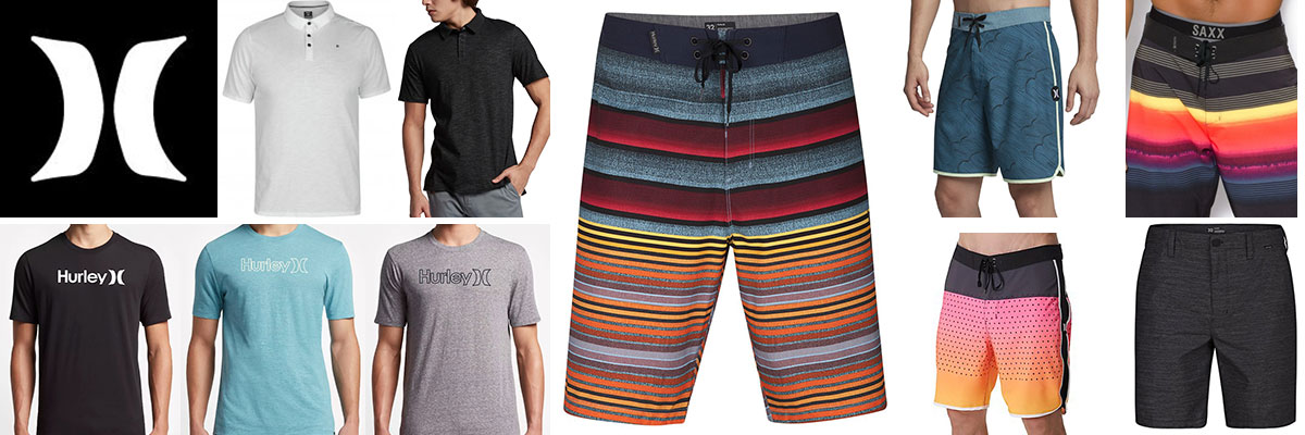 Hurley mens swimwear, board shorts, t-shirts & golf wear available at Swiss Sports Haus 604-922-9107.