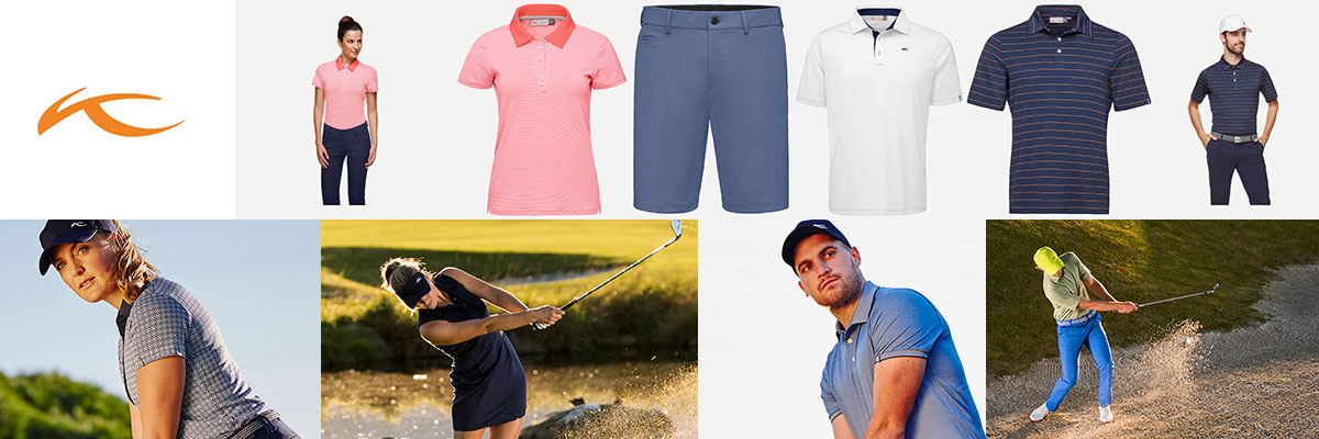 Kjus golf wear for men & women available at Swiss Sports Haus 604-922-9107.