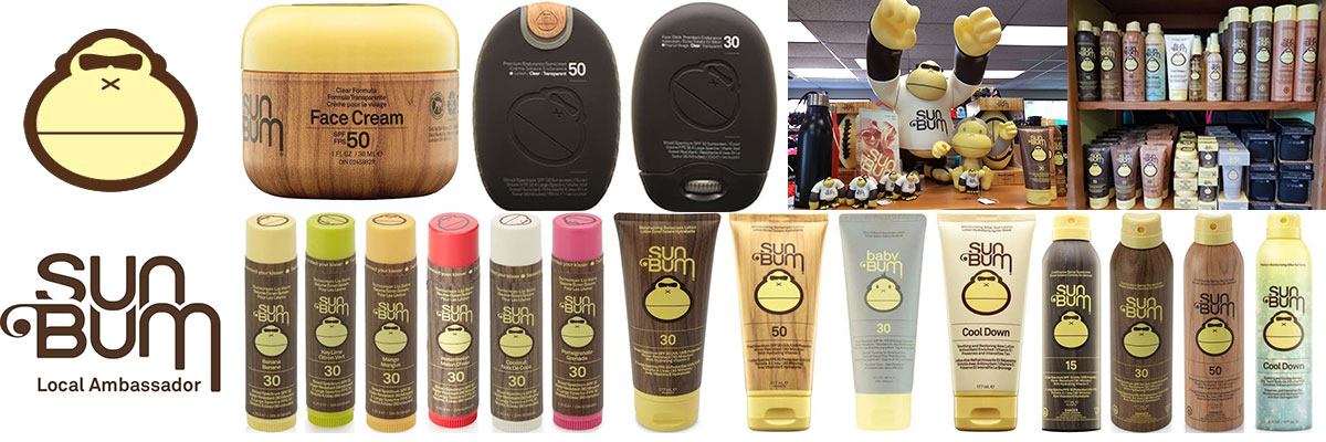 Sunbum Sunscreen available at Swiss Sports Haus 604-922-9107.