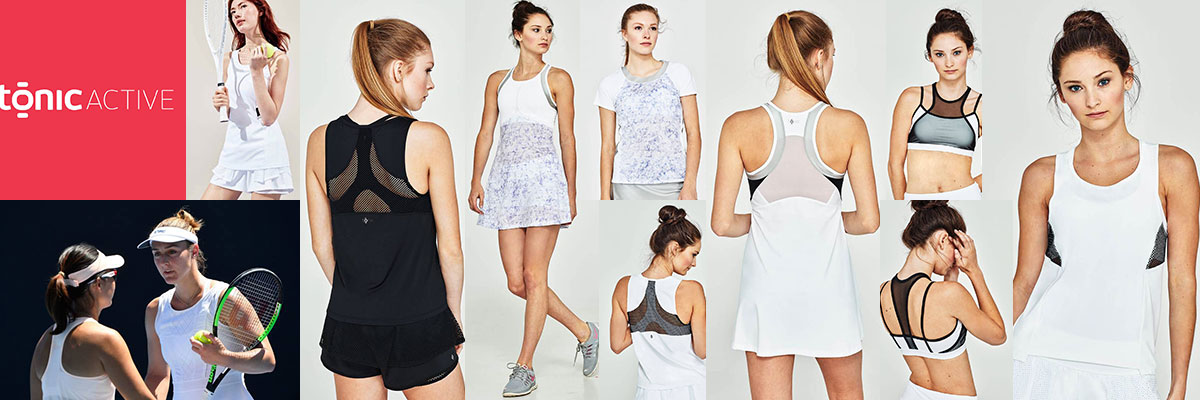 Tonic Women's Tennis Wear available at Swiss Sports Haus 604-922-9107.