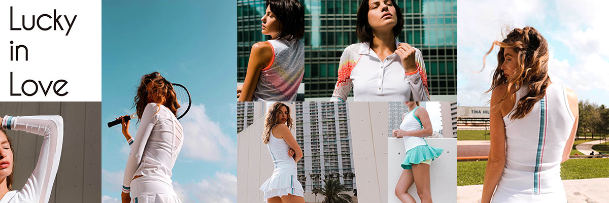 Lucky In Love womens tennis wear available at Swiss Sports Haus 604-922-9107.