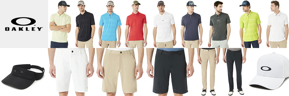 Oakley mens golf and tennis wear available at Swiss Sports Haus 604-922-9107.