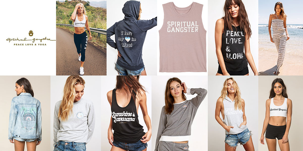 Spiritual Gangster Yoga Wear available at Swiss Sports Haus 604-922-9107.