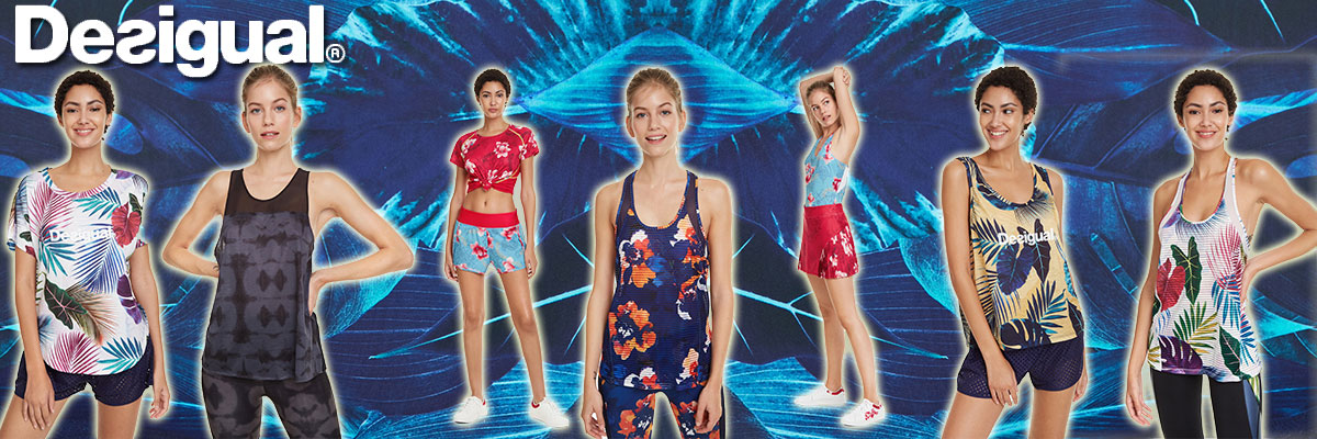 Desigual women's technical & swim wear available at Swiss Sports Haus 604-922-9107.