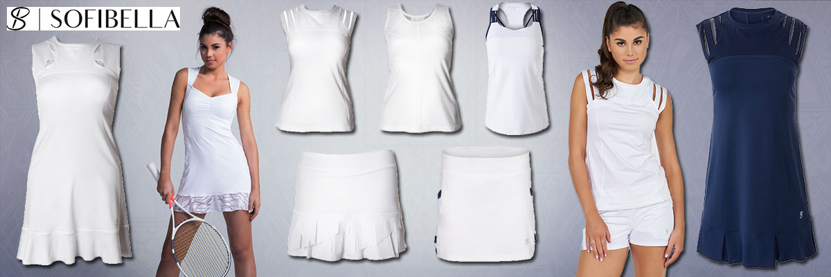 Sofibella women's tennis wear available at Swiss Sports Haus 604-922-9107.