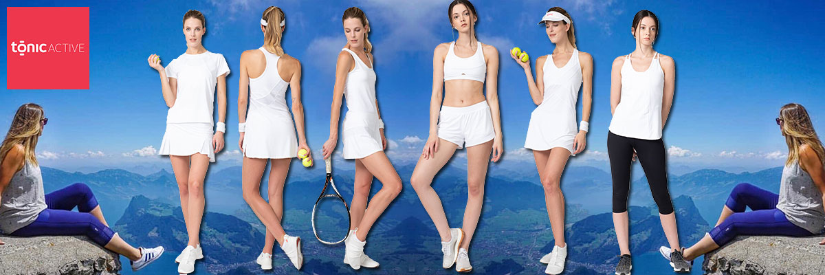 Tonic Active women's tennis wear available at Swiss Sports Haus 604-922-9107.