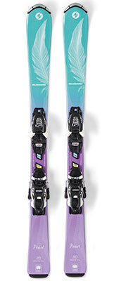 2020 Blizzard Pearl Junior skis & bindings on sale at Swiss Sports Haus 604-922-9107.