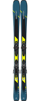 2020 Salomon XDR 76 ST C skis & bindings on sale at Swiss Sports Haus 604-922-9107.