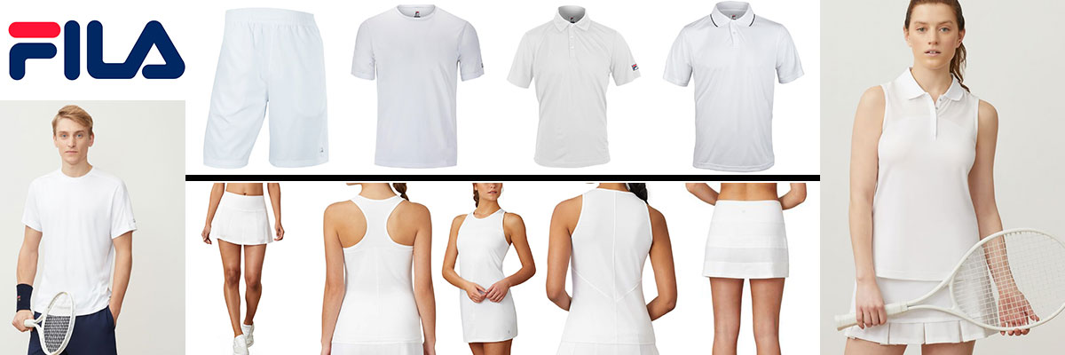 Fila men's and women's tennis wear available at Swiss Sports Haus 604-922-9107.