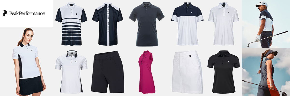 Peak Performance golf, tennis & active wear available at Swiss Sports Haus 604-922-9107.