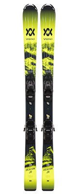 2021 Volkl Junior Deacon skis & bindings available at Swiss Sports Haus 604-922-9107.