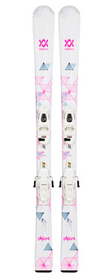 2021 Volkl Chica Junior skis & bindings available at Swiss Sports Haus 604-922-9107.