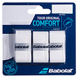Babolat Tour Original Comfort Grip white tennis racquet grip available at Swiss Sports Haus 604-922-9107.