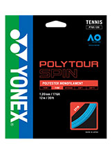 Yonex Polytour Spin 120 tennis string available at Swiss Sports Haus 604-922-9107.