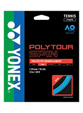 Yonex Polytour Spin 125 tennis string available at Swiss Sports Haus 604-922-9107.