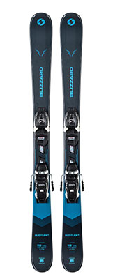 2021 Blizzard Rustler Twin Junior skis & bindings available at Swiss Sports Haus 604-922-9107.
