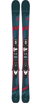 2021 Rossignol Experience Pro Junior skis & bindings available at Swiss Sports Haus 604-922-9107.