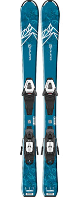 2022 Salomon Max Junior S & SX skis & bindings available at Swiss Sports Haus 604-922-9107.