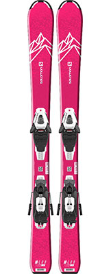 2021 Salomon QST Lux Junior SX & S skis & bindings available at Swiss Sports Haus 604-922-9107.