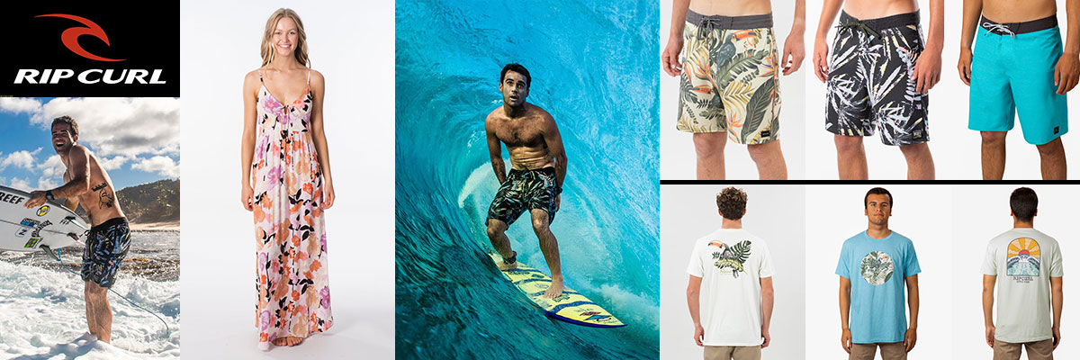 Rip Curl Mens & Womens Swimwear, Board Shorts & T's available at Swiss Sports Haus 604-922-9107.