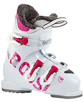 2022 Rossignol Fun Girl J3 three buckle junior ski boots available at Swiss Sports Haus 604-922-9107.