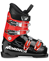 2022 Nordica SpeedMachine Junior kids J4 four buckle ski boots available at Swiss Sports Haus 604-922-9107.