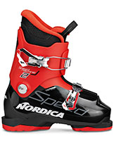 2022 Nordica SpeedMachine Junior kids J2 two buckle junior ski boots available at Swiss Sports Haus 604-922-9107.