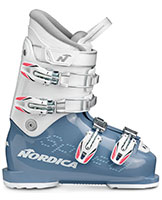2021 Nordica Speedmachine Junior J4 four buckle junior girls ski boots available at Swiss Sports Haus 604-922-9107.