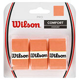 Wilson Pro Over Grip - Orange 3 pack available at Swiss Sports Haus 604-922-9107.