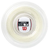 Wilson Sensation 16 Tennis String available at Swiss Sports Haus 604-922-9107.