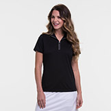EP New York EPNY Short Sleeve Convertible Zip Mock Polo available at Swiss Sports Haus 604-922-9107.