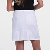 EP New York EPNY Knit Skort Black Mesh Pleat Detail available at Swiss Sports Haus 604-922-9107.