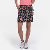 EP New York EPNY 17.5 Inch Rainforest Layered Leaves Print Skort available at Swiss Sports Haus 604-922-9107.