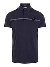 J. Lindeberg Clay Golf Polo Navy available at Swiss Sports Haus 604-922-9107.