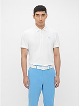 J. Lindeberg Tom Golf Polo Ocean Blue available at Swiss Sports Haus 604-922-9107.