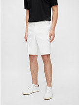 J. Lindeberg Eloy Golf Shorts White available at Swiss Sports Haus 604-922-9107.