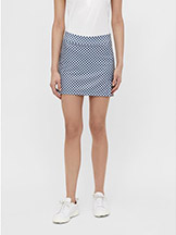 J. Lindeberg Amelie Golf Skirt Gingham available at Swiss Sports Haus 604-922-9107.