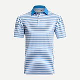 Kjus Luis Multi Stripe Polo Short Sleeve Shirt available at Swiss Sports Haus 604-922-9107.