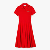 Lacoste Women's Tailored Pique Polo Dress available at Swiss Sports Haus 604-922-9107.