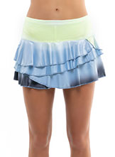 Lucky In Love Wild Ombre Rally Skort available at Swiss Sports Haus 604-922-9107.