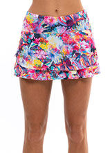 Lucky In Love Techno Tropic Print Skirt available at Swiss Sports Haus 604-922-9107.