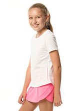 Lucky In Love Girls Dynamic High-Low Short Sleeve Top available at Swiss Sports Haus 604-922-9107.