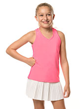 Lucky In Love Girls V-Neck Cutout Tank available at Swiss Sports Haus 604-922-9107.
