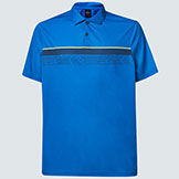 Oakley Print Layer Stripe Polo available at Swiss Sports Haus 604-922-9107.