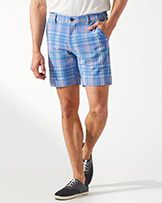 Tommy Bahama Beachfront Plaid 8 Inch Shorts available at Swiss Sports Haus 604-922-9107.