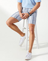 Tommy Bahama Harbor Point Plaid 10 Inch Shorts available at Swiss Sports Haus 604-922-9107.
